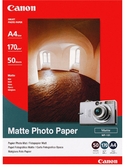Canon MP-101 A4 Matte 170gsm Photo Paper (50 Sheets)