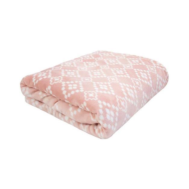Bambury Single/Double Chiquita Ultraplush Blanket (Rosewater)