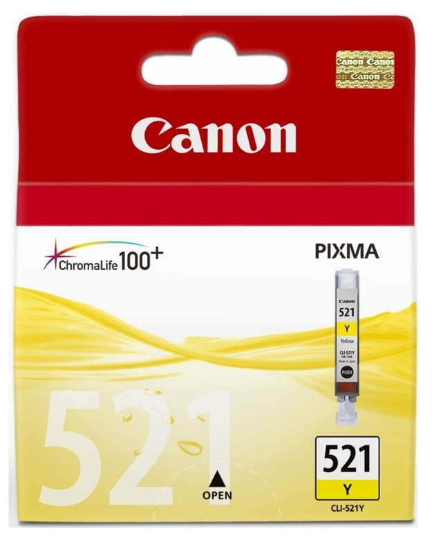 Canon Ink Cartridge - CLI521Y (Yellow)