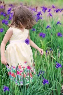 Sweet Little Girl in a Summer Garden Journal by Cs Creations image