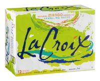 La Croix Sparkling Water - Mango 355ml Can (12 Pack)