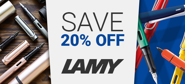 20% off Lamy!