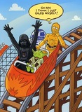 Star Wars: Birthday Card - Characters On Rollercoaster