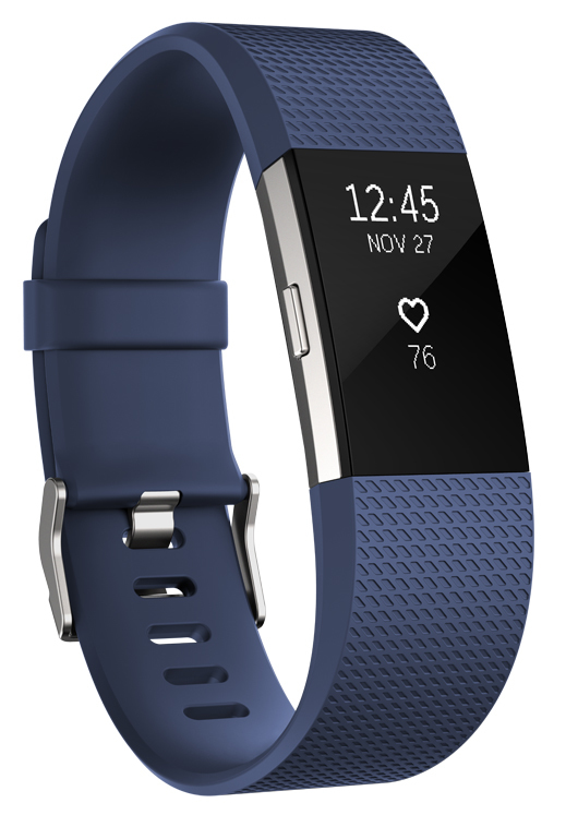Fitbit Charge 2 Heart Rate + Fitness Wristband - Blue (Large) image