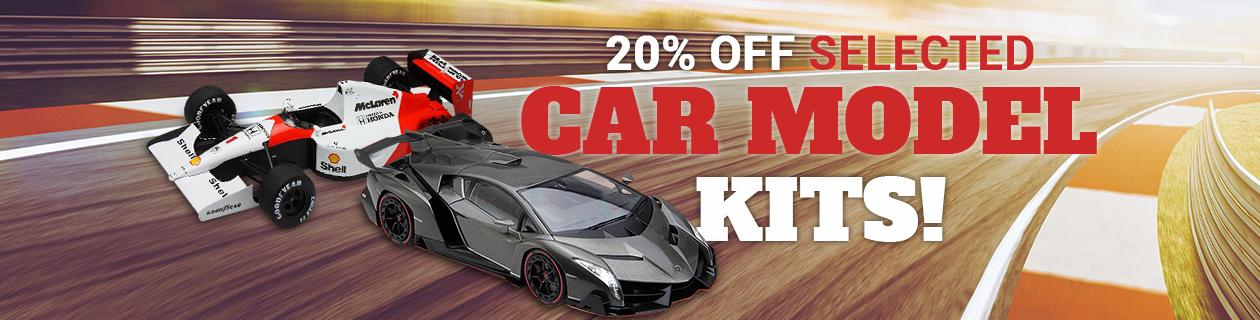 Hot deals on selected Car Model Kits!