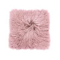 Mongolian Lambswool Cushion - Rosewater