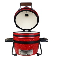 "Gorilla: Kamado Ceramic Portable Grill BBQ (Red) | 13"""