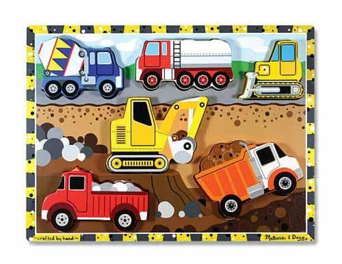 Melissa & Doug: Construction Chunky Puzzle