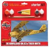 Airfix De Havilland DH.82a Tiger Moth 1/72 Model Kit Starter Set