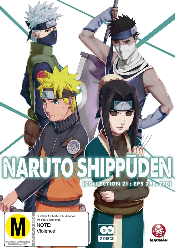 Naruto Shippuden Collection 21 on DVD