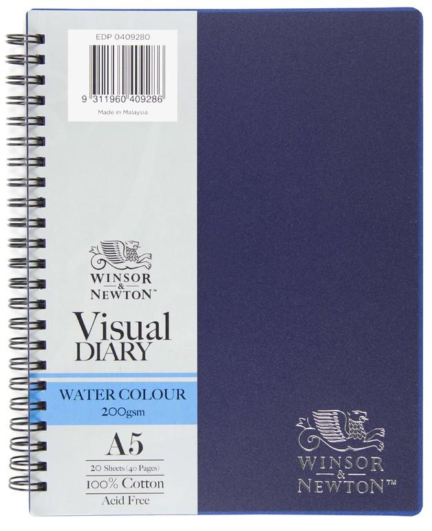 Winsor & Newton Watercolour Diary 200gsm Wiro (A5)