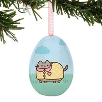 Pusheen: Tin Egg Ornament - Rainy Day