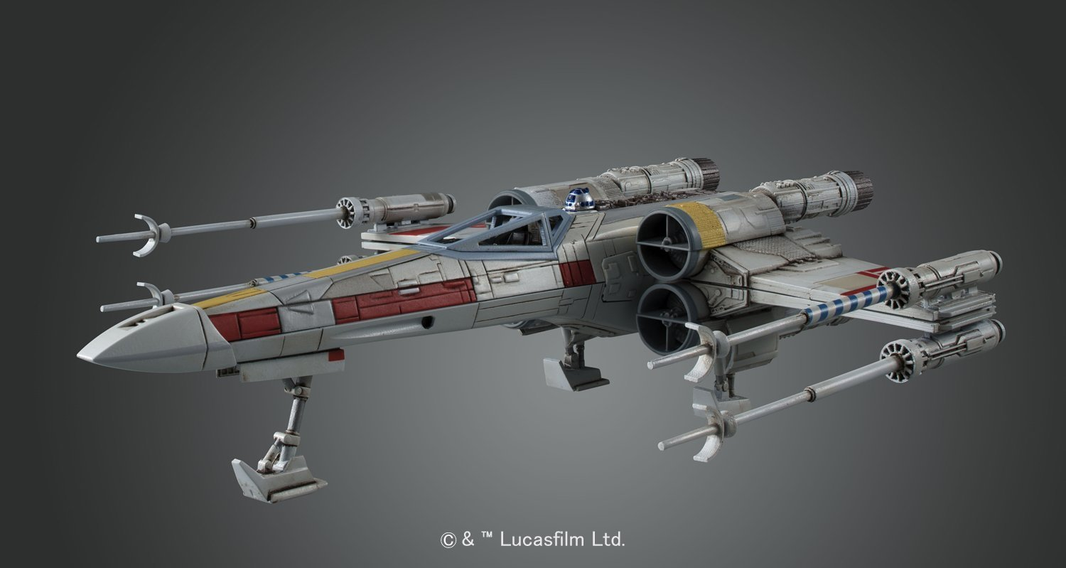 Star Wars 1/72 X Wing Fighter - Scale Model Kit image
