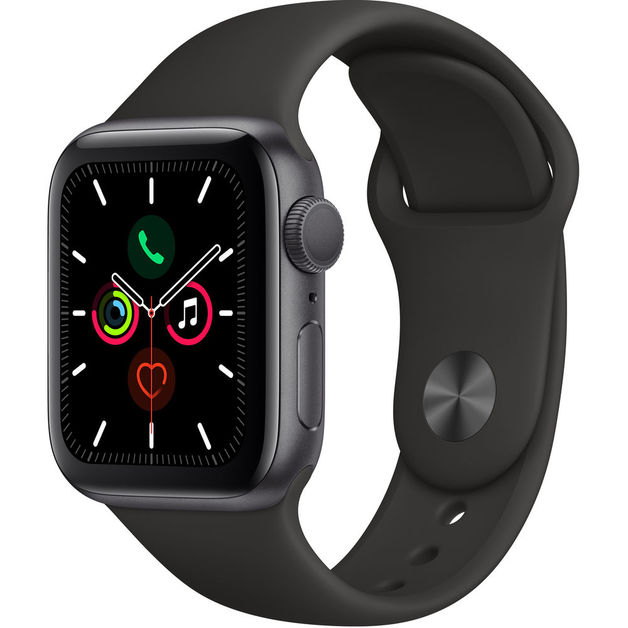 Apple Watch Series 5 GPS 40mm - Space Gray Aluminum Case With Black Sport Band