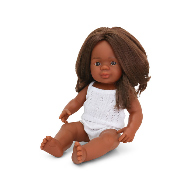 Miniland: Anatomically Correct Baby Doll - Indigenous Australian Girl (38 cm)