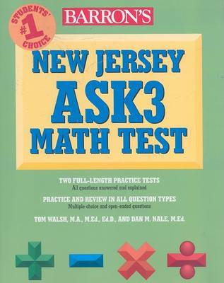 Barron's New Jersey Ask3 Math Test by Dan Nale image
