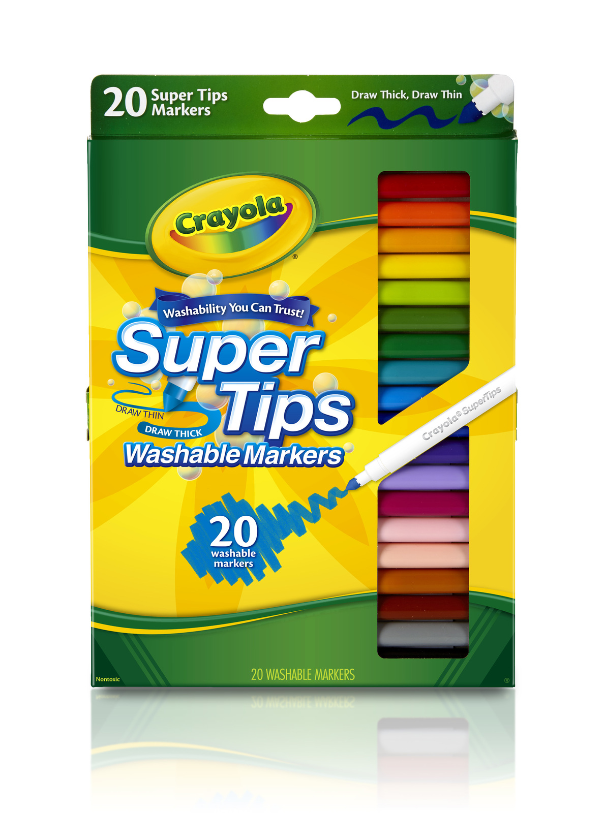 Crayola: 20 Washable Super Tips Markers image