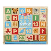 Melissa & Doug: Wooden Blocks ABC/123