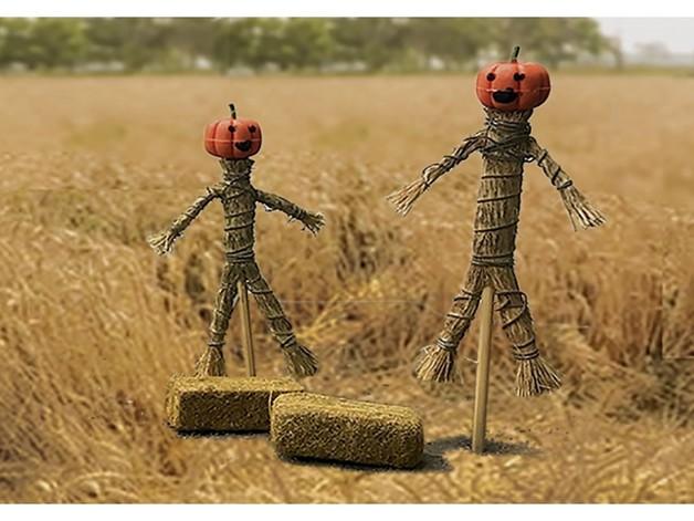 JTT: G gauge (1/24 scale) Scarecrow & Hay