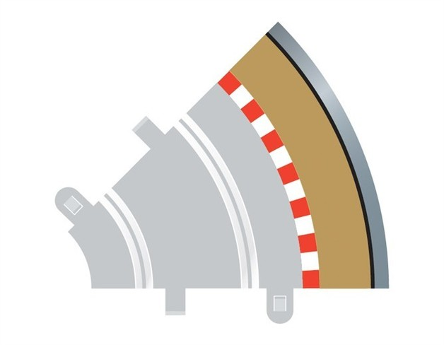 Scalextric 45 Degree Radius 1 Curve Outer Track Borders
