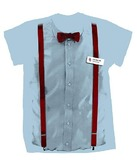 Doctor Who: 11th Doctor Braces & Bowtie T-Shirt - Large