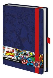 Marvel Comics: A5 Premium Notebook - (Retro Captain America)