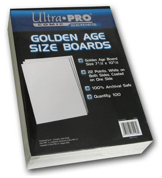 """Ultra Pro: Golden Comic Backing Boards - (7.5"""" x 10.5"""")"""