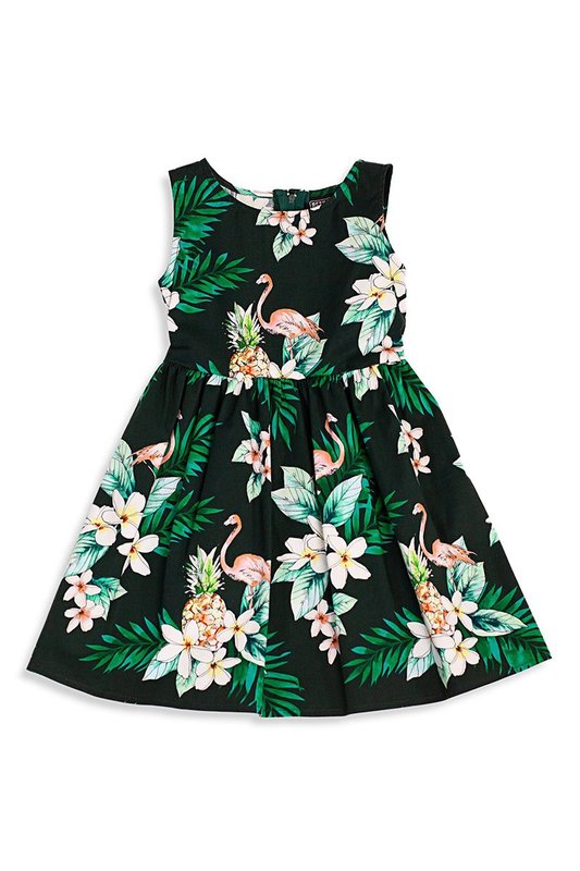 Retrolicious: Flamingo Kids Dress - 5-6