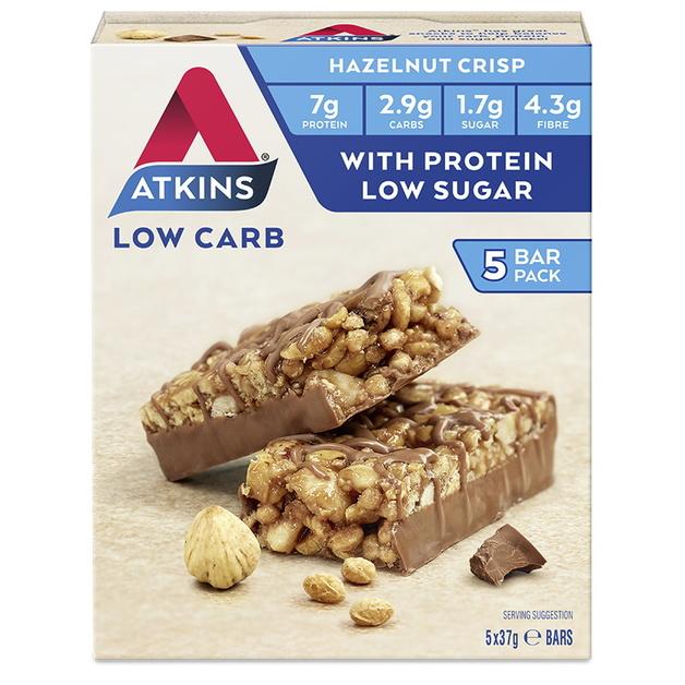 Atkins Day Break Bars - Chocolate Hazelnut Crisp (Box of 5)