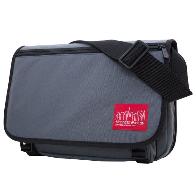 Manhattan Portage: Europa With Back Zipper and Compartments - Grey (Medium)