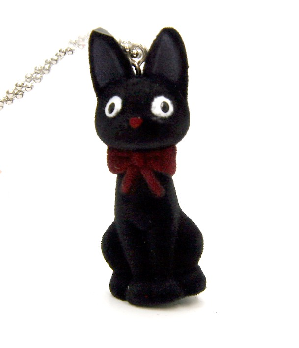 Studio Ghibli - Kiki's Delivery Service Jiji Flocked Key Chain