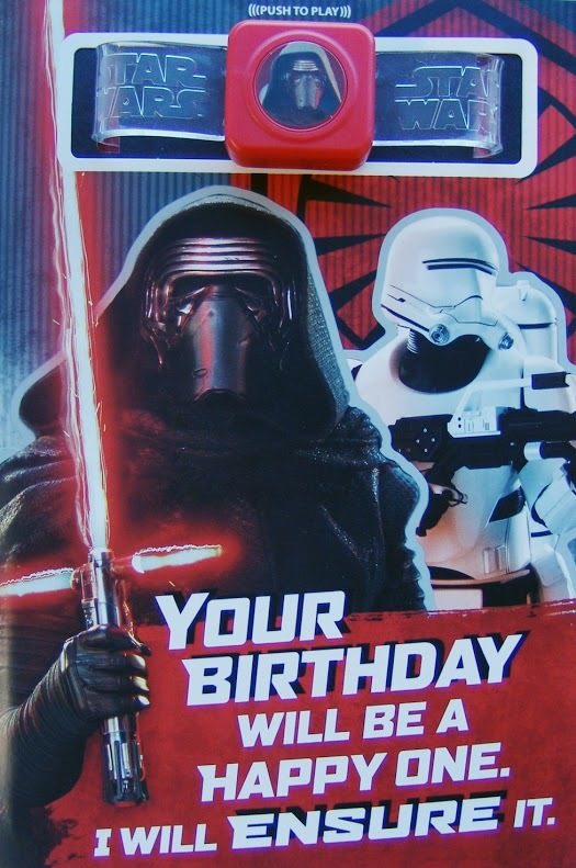 Buy Star Wars Interactive Sound Birthday Card Kylo Ren At Mighty