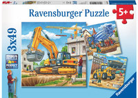 Ravensburger - Construction Vehicle Puzzle (3x49pc)