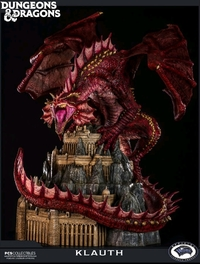"Dungeons & Dragons: Klauth Red Dragon - 24"" Premium Statue"