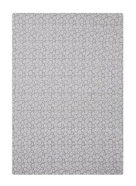 Little Baby Turtle: Cot Jersey Fitted Sheet - Grey with White Leaves