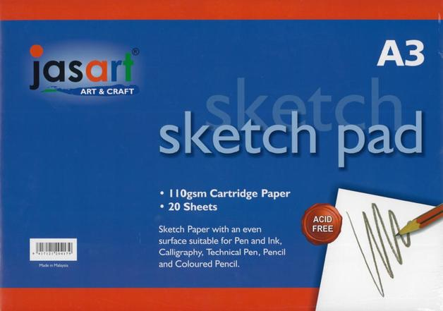 Jasart A3 Sketch Pad - 20 Sheets
