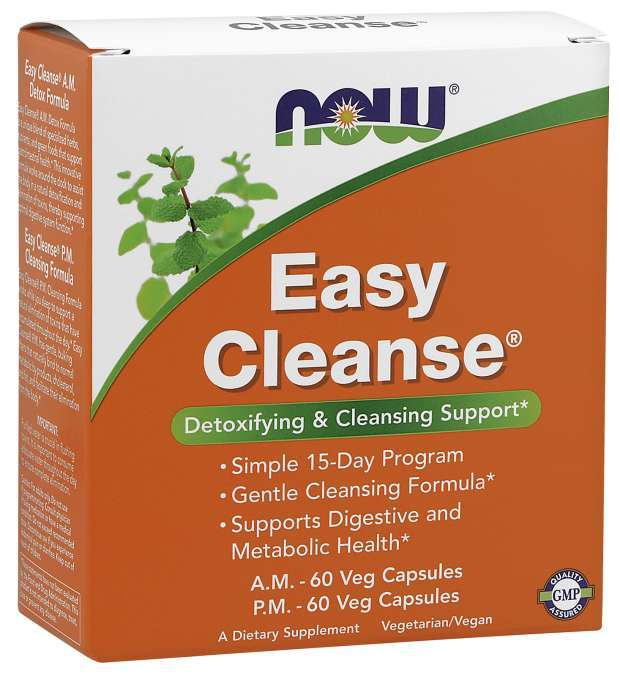 Now Foods Easy Cleanse (2 Bottles, 60 Caps)