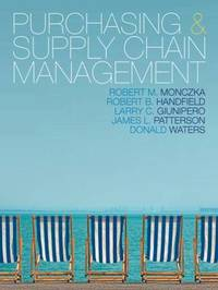 Purchasing and Supply Chain Management by Robert M Monczka image