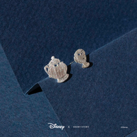 Short Story: Disney Earring Belle Mrs Potts and Chip - Silver