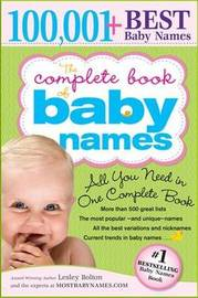 The Complete Book of Baby Names by Lesley Bolton image