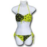 Batgirl Yellow & Black Bandeau Bikini (Small)
