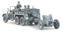 Tamiya 1/35 Krupp Towing Truck W/37mm Pak - Model Kit image