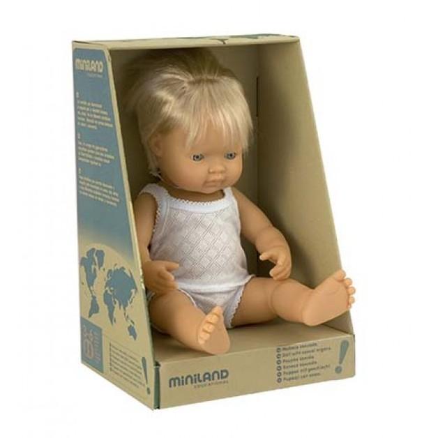 Miniland: Anatomically Correct Baby Doll - Caucasian Boy (38cm)