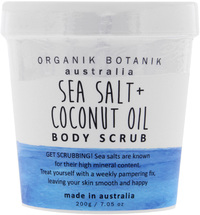 Organik Botanik Body Scrub Tub - Sea Salt & Coconut Oil (200gm)
