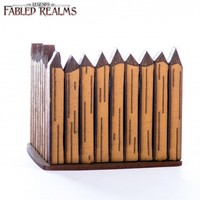 Fabled Realms: Corner Palisade Wall