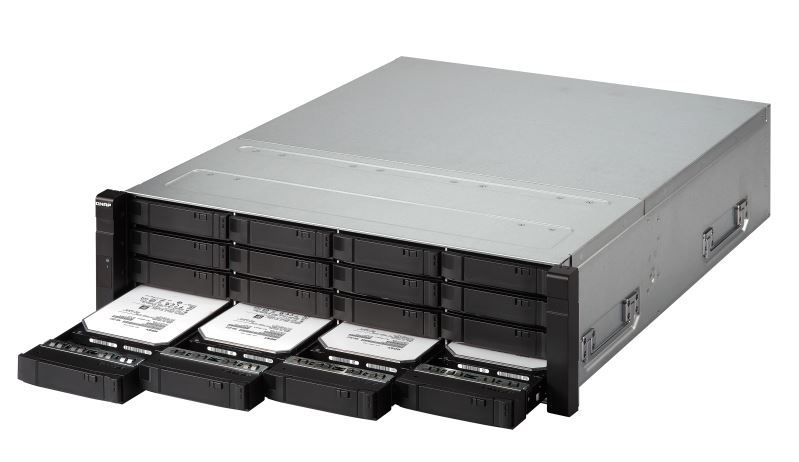 Qnap Ej1600-V2 Nas, 16-Bay (No Disk), Sas 12Gb/S Jbod For Zfs, 2 Mini-Sas Sff-8644 (Per Controller),Rp, With Rail Kit image
