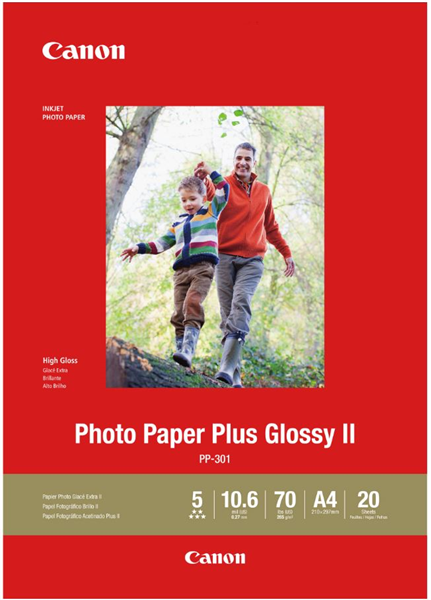 Canon PP-301 A4 Glossy II 275gsm Photo Paper (20 Sheets)