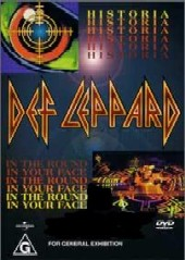 Def Leppard - Historia, In The Round In Your Face on DVD