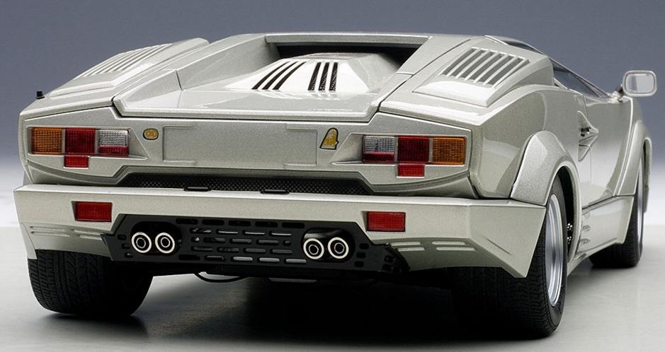Autoart: 1/18 Lamborghini Countach 25th Anniversary Edition (Silver) image
