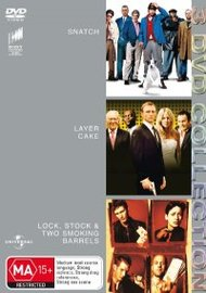Snatch / Layer Cake / Lock Stock And Two Smoking Barrels - 3 DVD Collection (3 Disc Set) on DVD